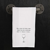 Kitchen Towel - One glass of wine