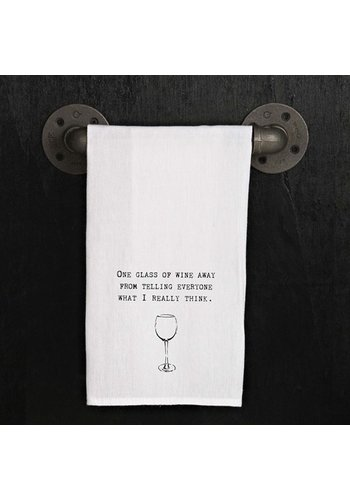SECOND NATURE BY HAND Kitchen Towel - One glass of wine