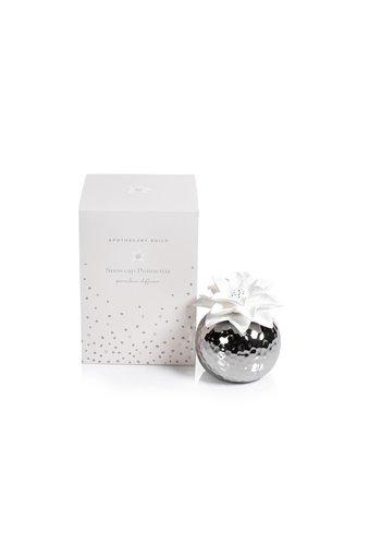 ZODAX Poinsettia Silver Snowcap Diffuser