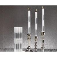 Modern & Festive Metallic Formal Taper Candles - Set of 6