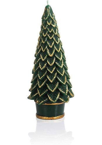 ZODAX Gold Trim Christmas Tree Candle