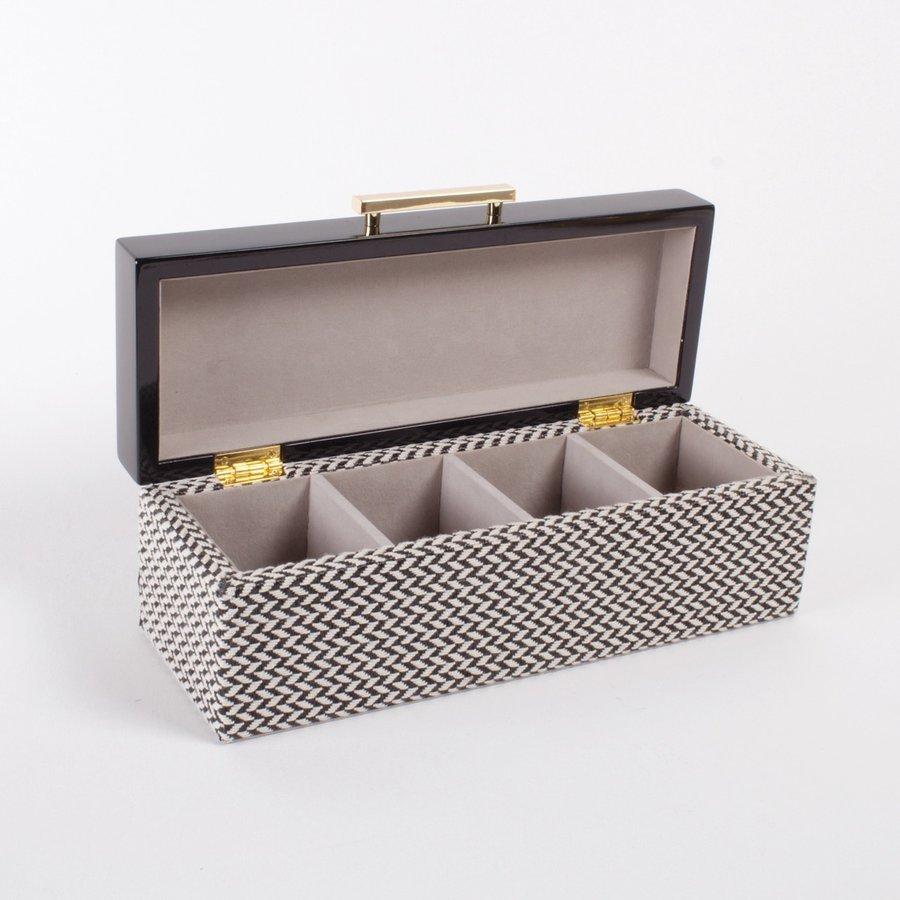 Black Chevron Jewelry Box