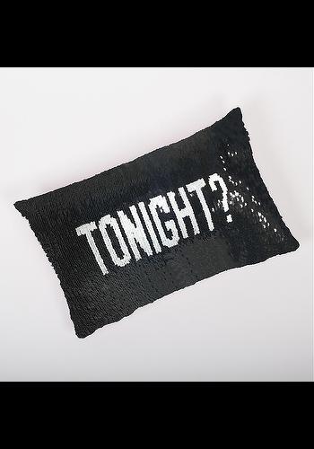 8 OAK LANE/SHADE CRITTERS Tonight/Not Tonight Sequin Pillow