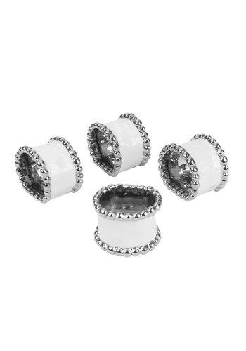 PAMPA BAY Napkin Ring Set - White