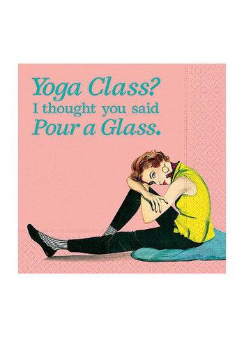 DESIGN DESIGN Cocktail Napkin - Yoga Class Pour A Glass