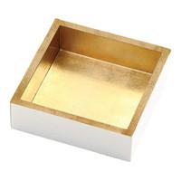 Cocktail Napkin Holder- White/Gold