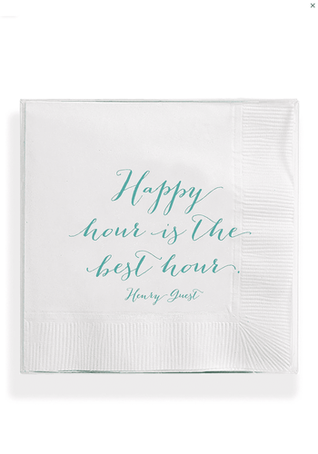 BEN'S GARDEN Cocktail Napkins- Happy Hour