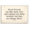 BEN'S GARDEN Glass Tray - Good Friends Are Like Stars