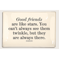 Glass Tray - Good Friends Are Like Stars