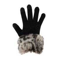 Ghost Leopard Trim Tech Gloves
