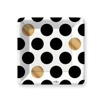 Kenzie Black Dessert Paper Plates
