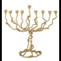 WISTERIA GOLD MENORAH / 123310