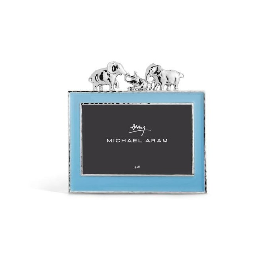 Elephant Frame Blue Enamel 4x6