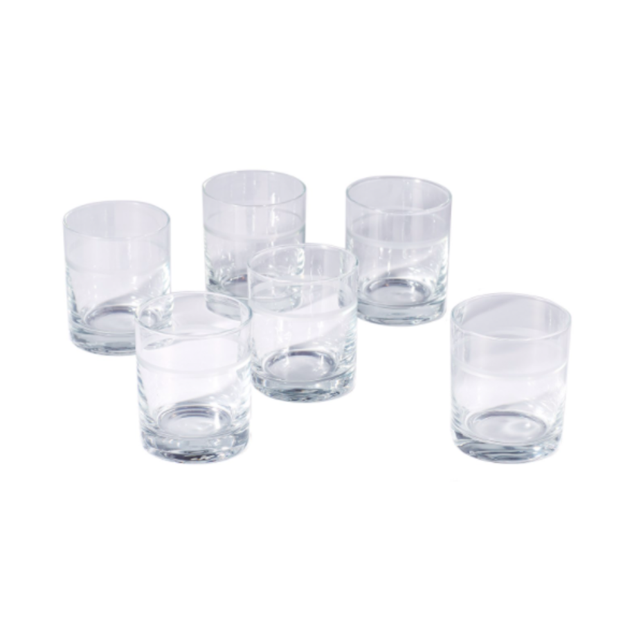 Double Old Fashion 1 Band Drinking Glass