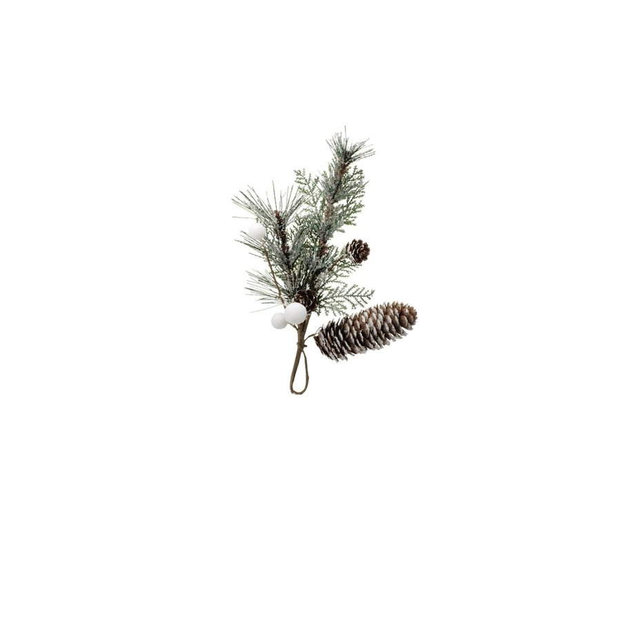 Pine Pick Decoration- Winter Green