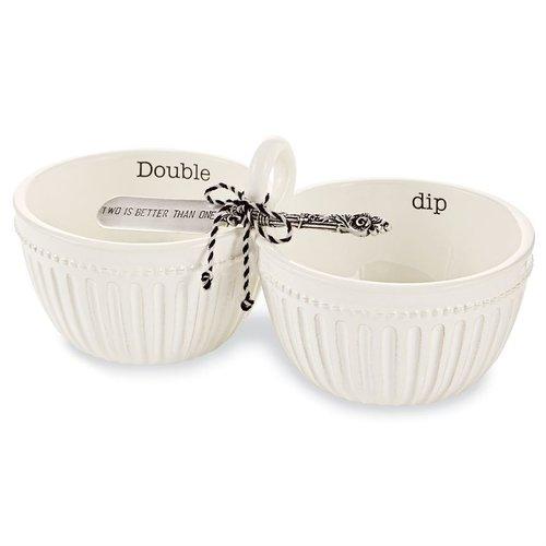 MUD PIE Double Dip Bowl Set