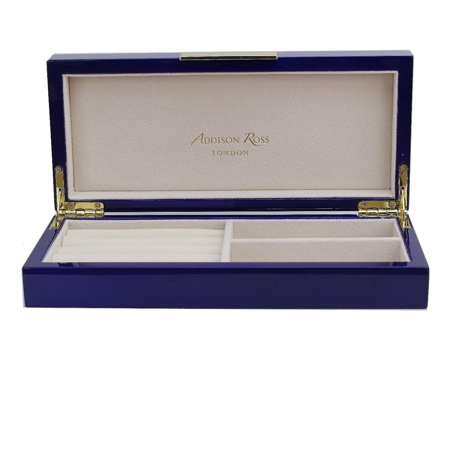 Navy Lacquer Box with Gold