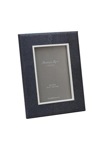 ADDISON ROSS Dark Green Shagreen Frame