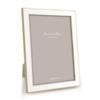 ADDISON ROSS White Enamel & Gold Frame 8x10