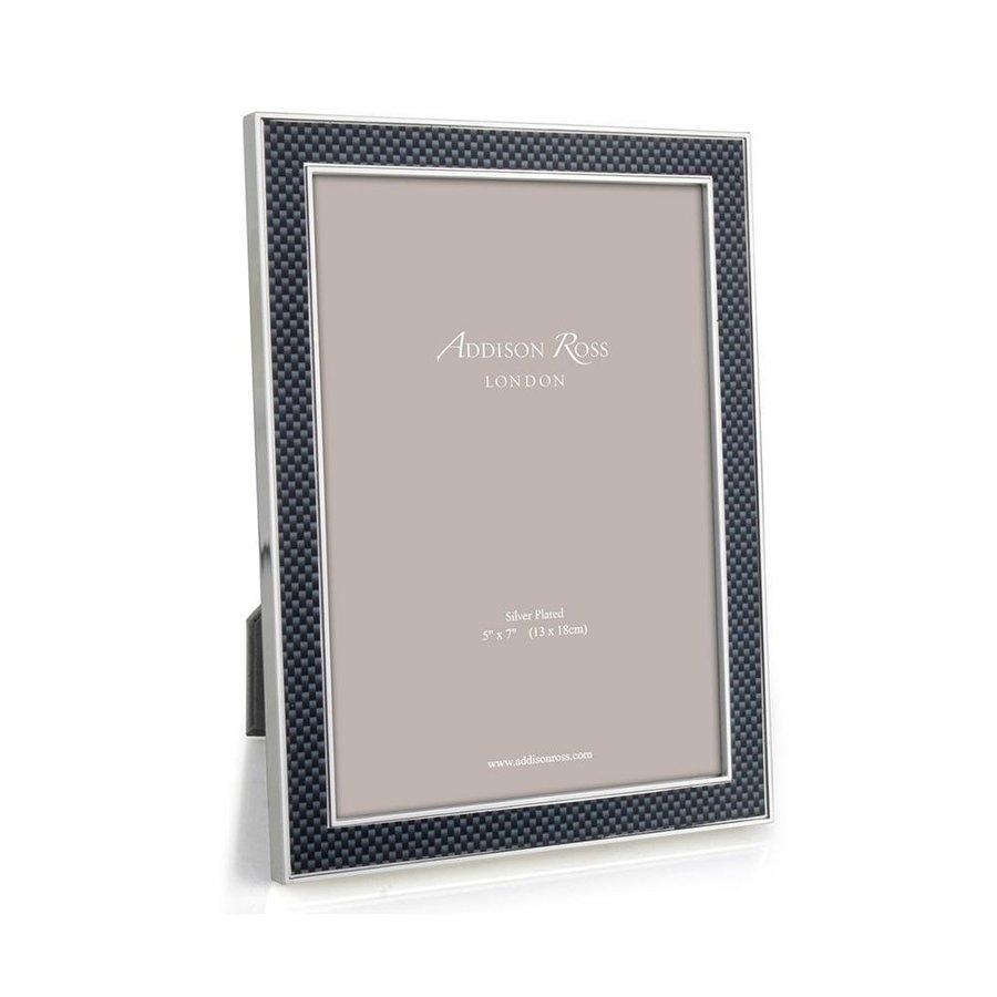 Grey Carbon Fibre & Silver Frame 5x7