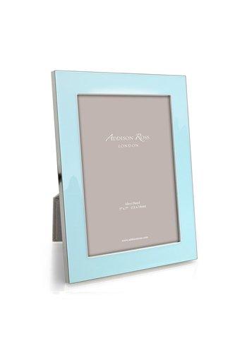 ADDISON ROSS Ice Blue Enamel & Silver 5x7 Frame