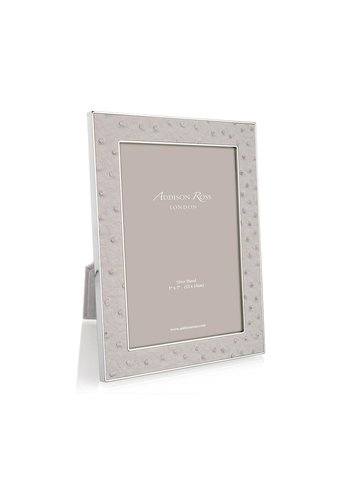 ADDISON ROSS Mist Ostrich & Silver Frame 5x7