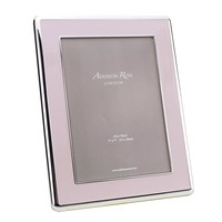 Pink & Silver Curve Frame 5x8