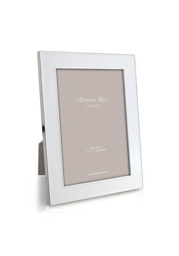 ADDISON ROSS White Enamel & Silver Wide Frame 5x7