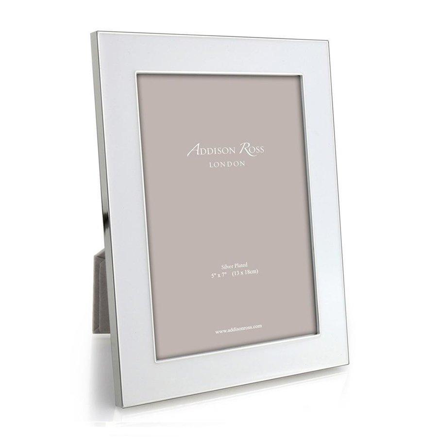 White Enamel & Silver Wide Frame 5x7