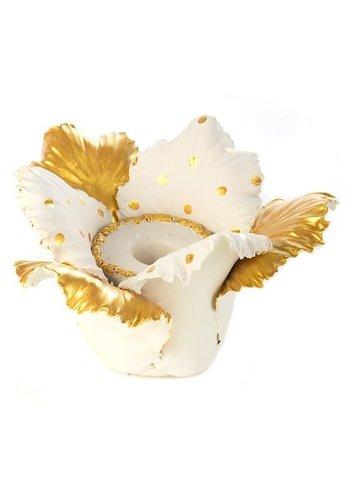 MACKENZIE CHILDS Daffodil Candle Holder