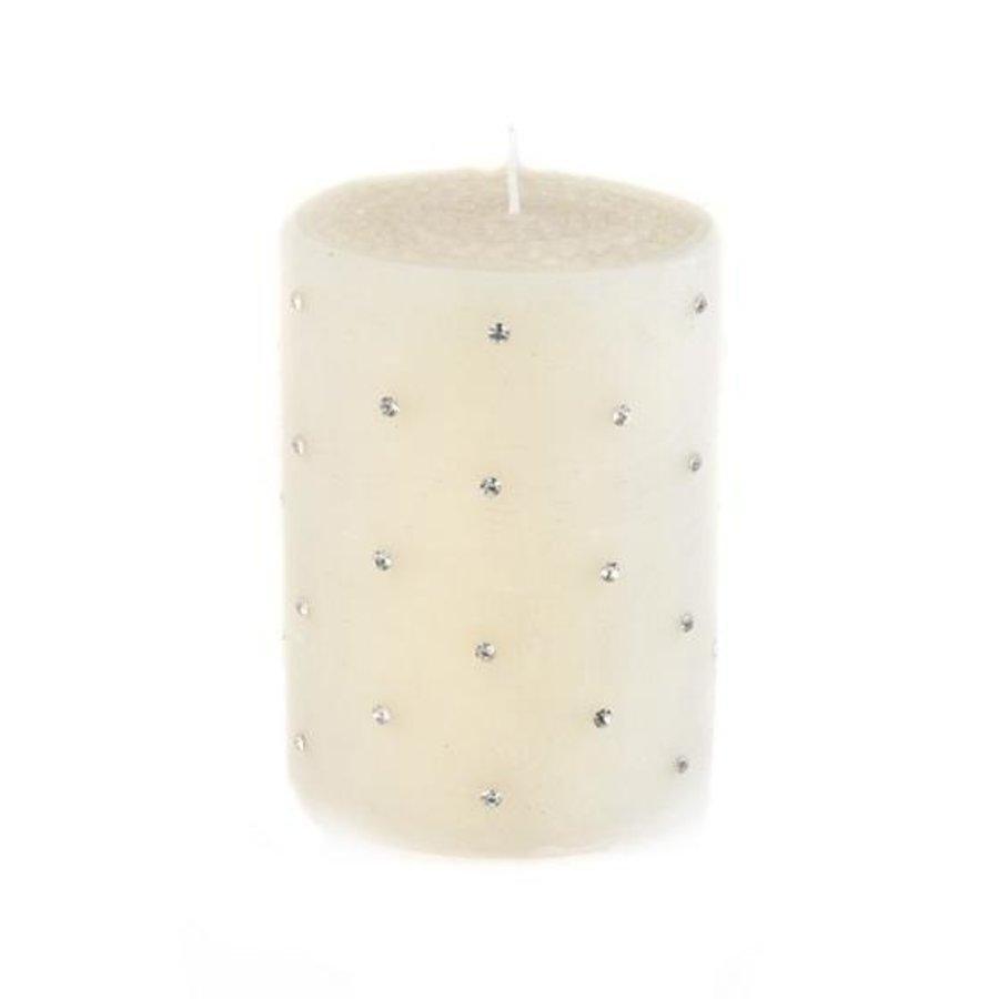 "Sparkle Pillar Candle - 4"" - Ivory"