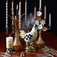 Mini Dinner Candles - Rose Gold, Silver, & Pearl