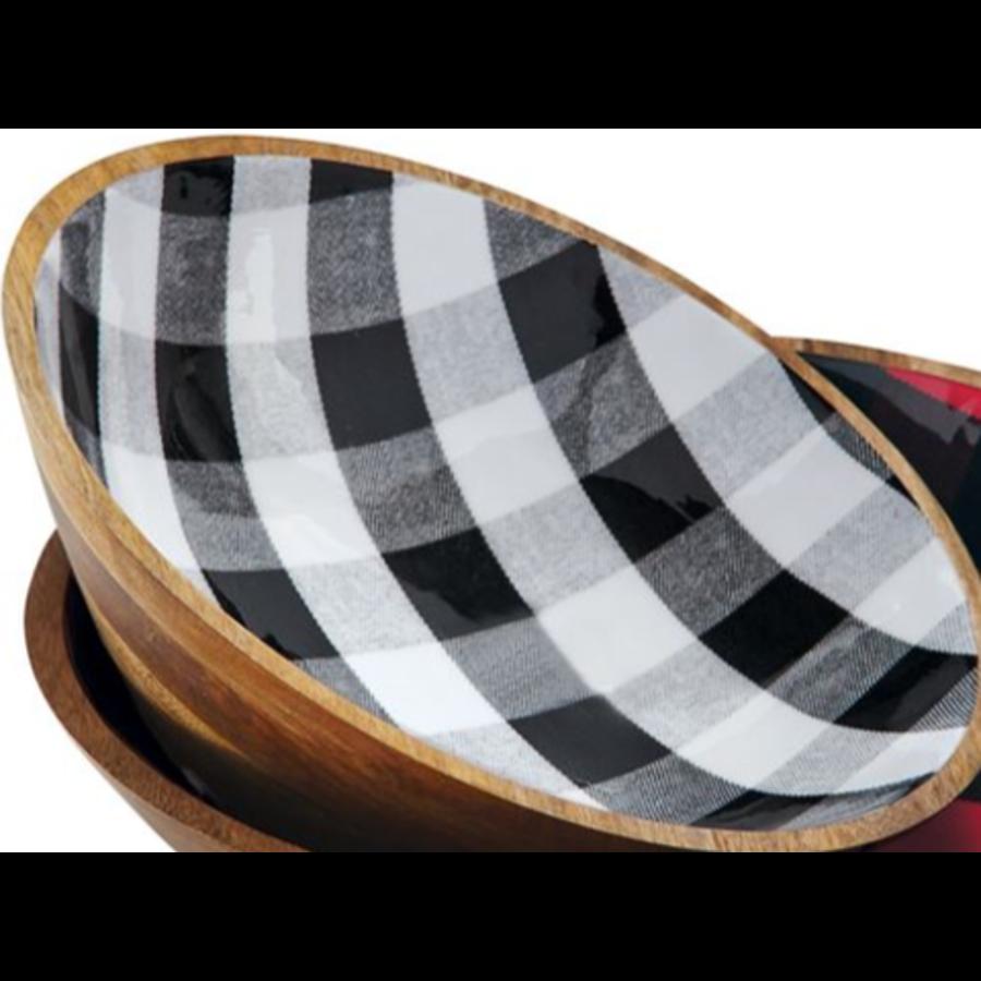 Buffalo Check Black Bowl - Medium