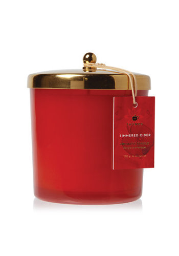 THYMES Simmered Cider Harvest Red Poured Candle