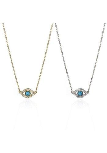 Blue Eye Necklace- GOLD