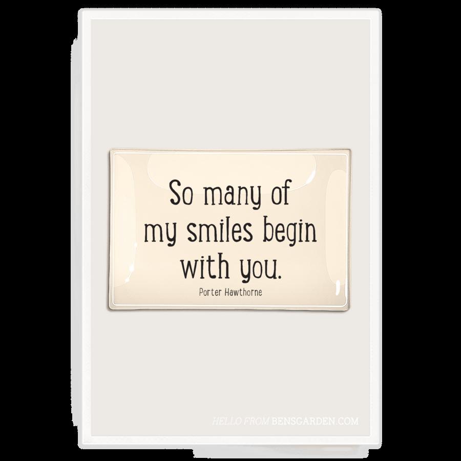 So Many Of My Smiles Glass Tray
