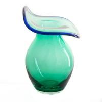 Mint Ripple Vase