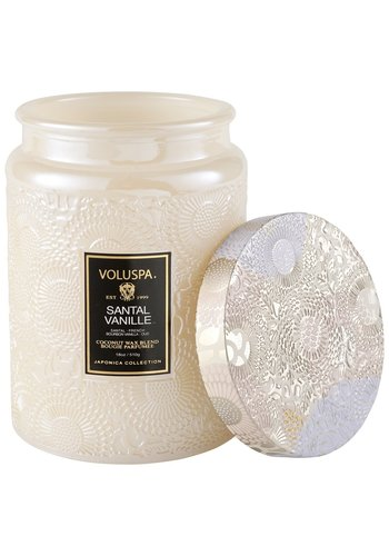 VOLUSPA Santal Vanilla Large Jar Candle