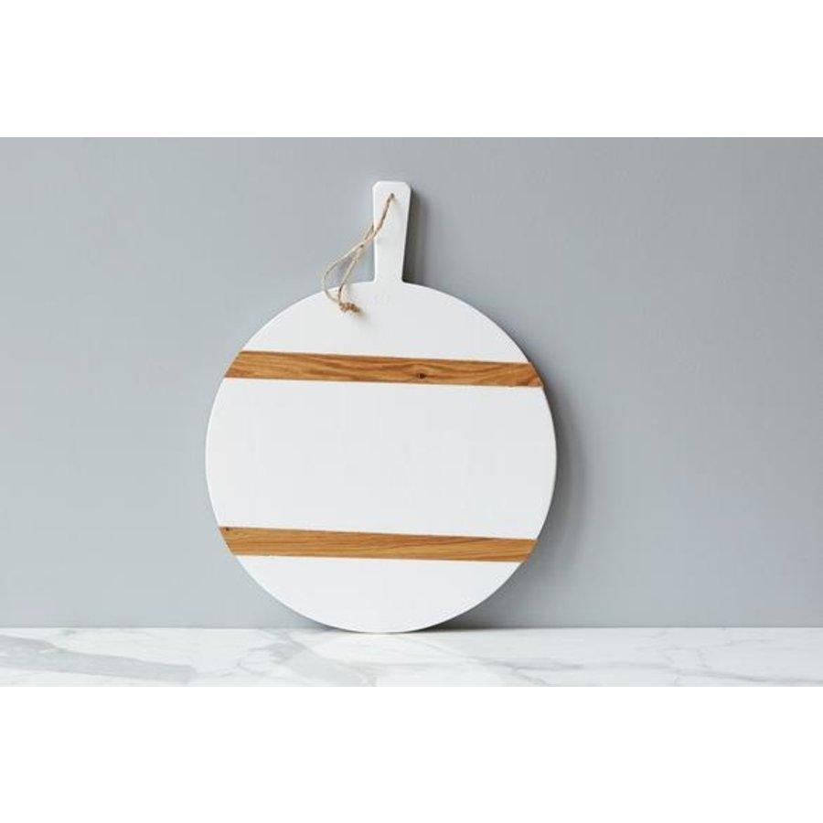 White Round Mod Charcuterie Board, Medium