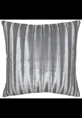 Stripe Silver Velvet Pillow