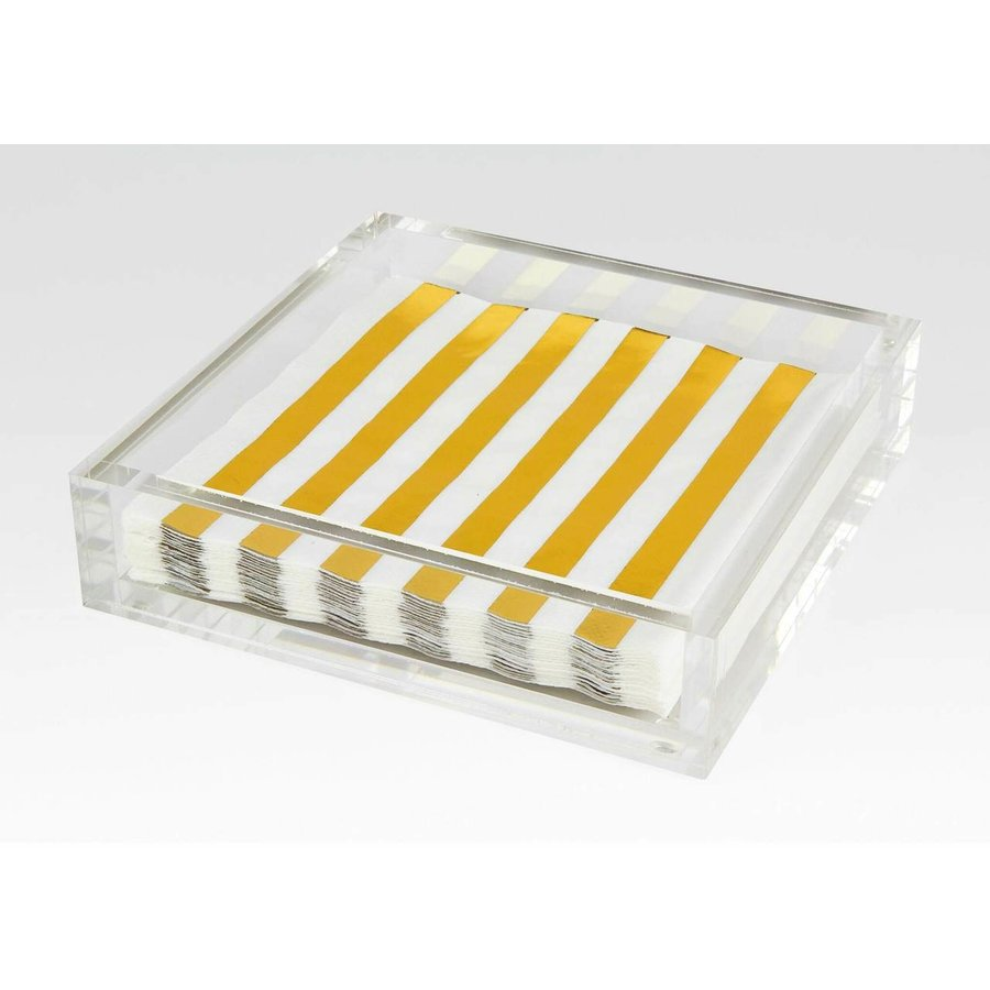 Lucite Lunch Napkin Tray