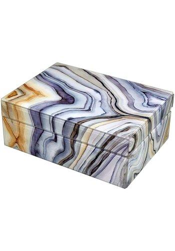 TIZO DESIGN Marble Ocean Box Large