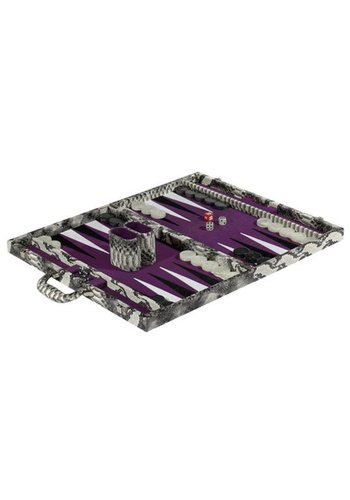 TIZO DESIGN Italian Designed Faux Leather Backgammon Set