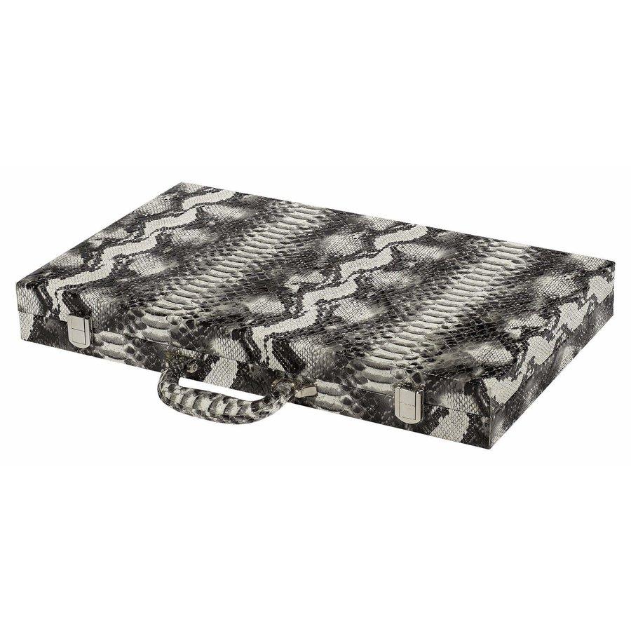 Italian Designed Faux Leather Backgammon Set