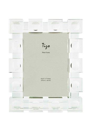 TIZO DESIGN Cube 4 x 6 Inch Glass Picture Frame
