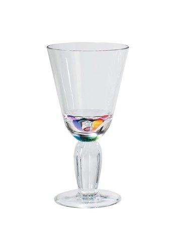 Rainbow Diamond Wine Glass