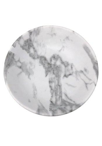 White Marble Salad Bowl