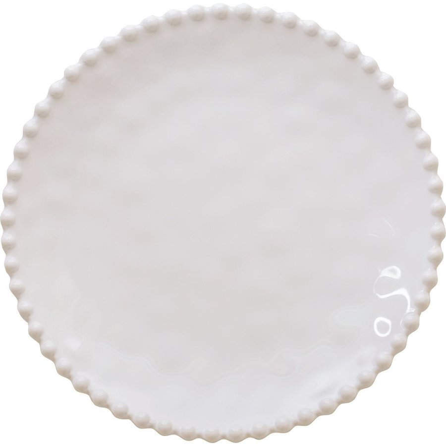 Beaded Pearl Round Serving Tray