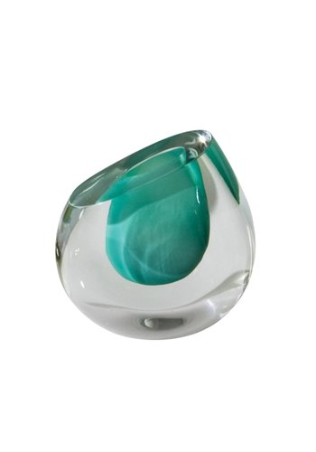 GLOBAL VIEWS Color Drop Vase - Aqua