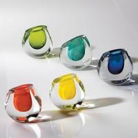 Color Drop Vase - Aqua